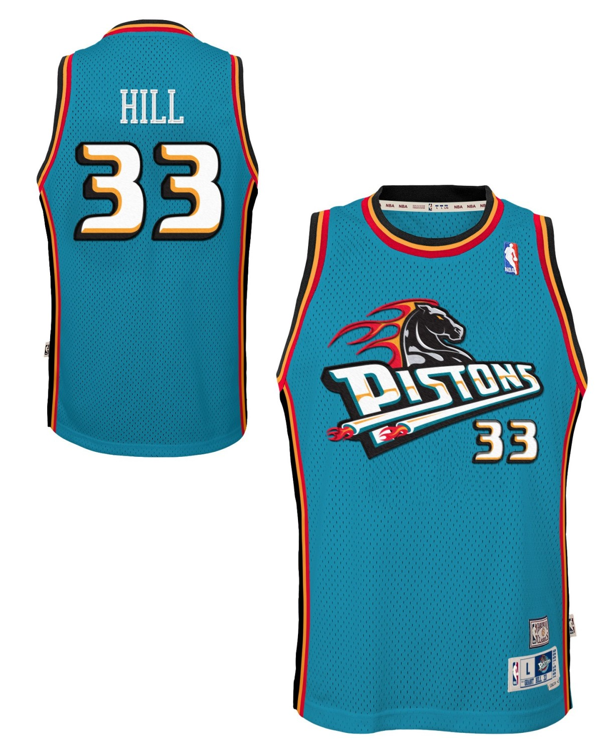 Grant Hill Detroit Pistons NBA Youth Throwback Swingman Jersey - Teal