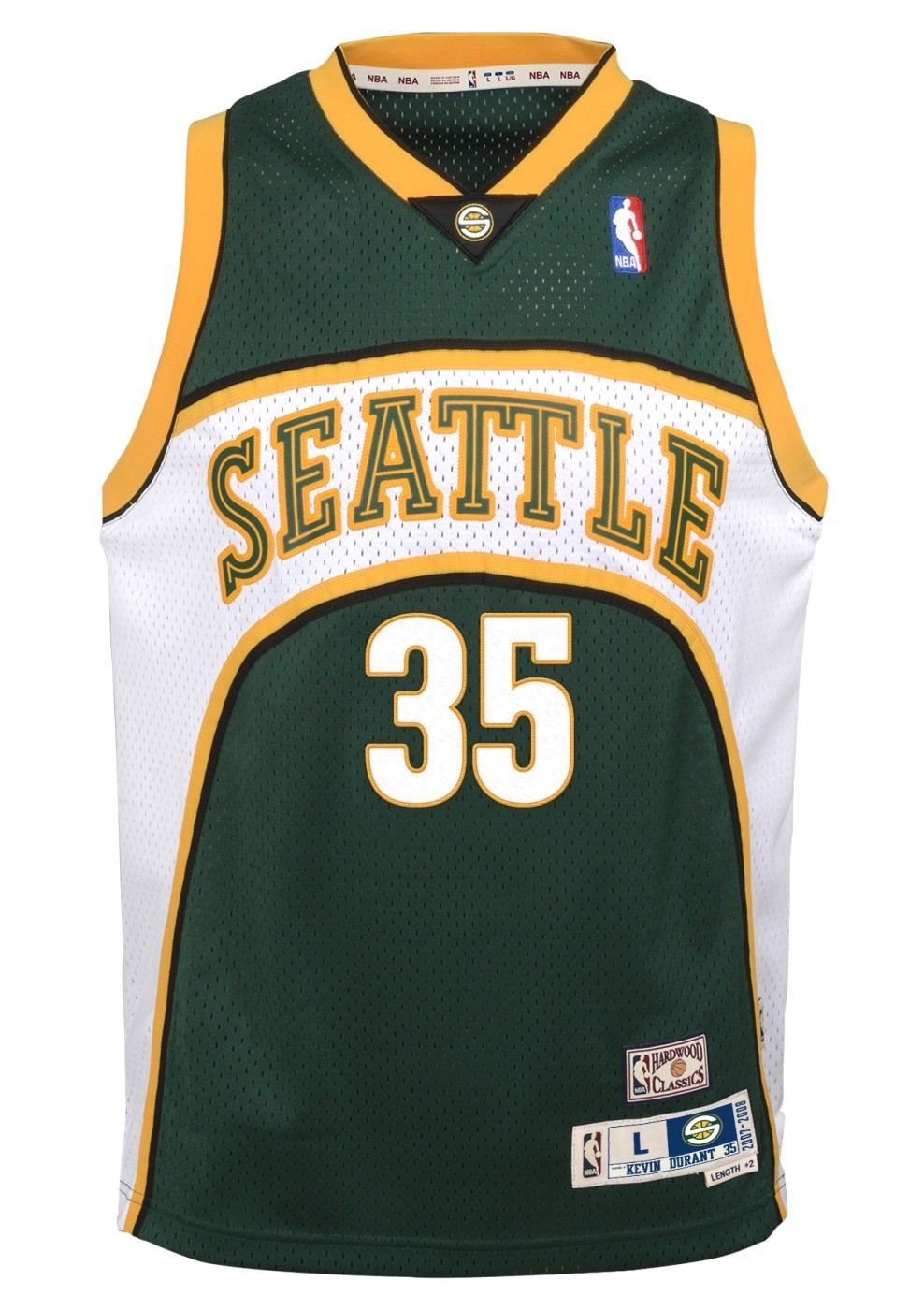 Kevin Durant Seattle Supersonics NBA Youth Throwback 2007-08 Swingman Jersey