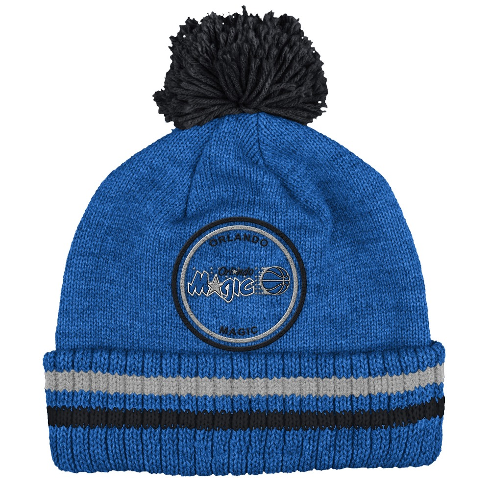 "Orlando Magic Mitchell & Ness NBA ""Big Man"" Cuffed Premium Pom Knit Hat"