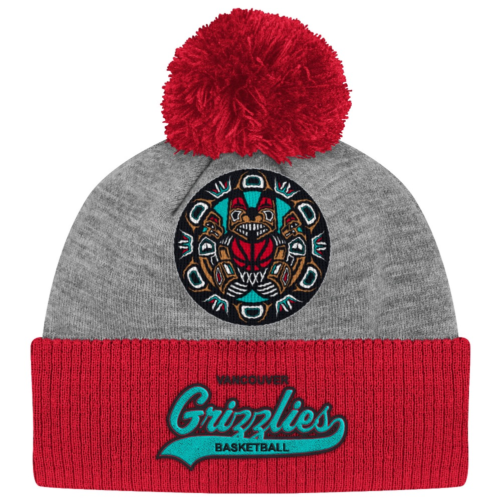 "Vancouver Grizzlies Mitchell & Ness NBA ""Tailsweep"" Retro Cuffed Pom Knit Hat"