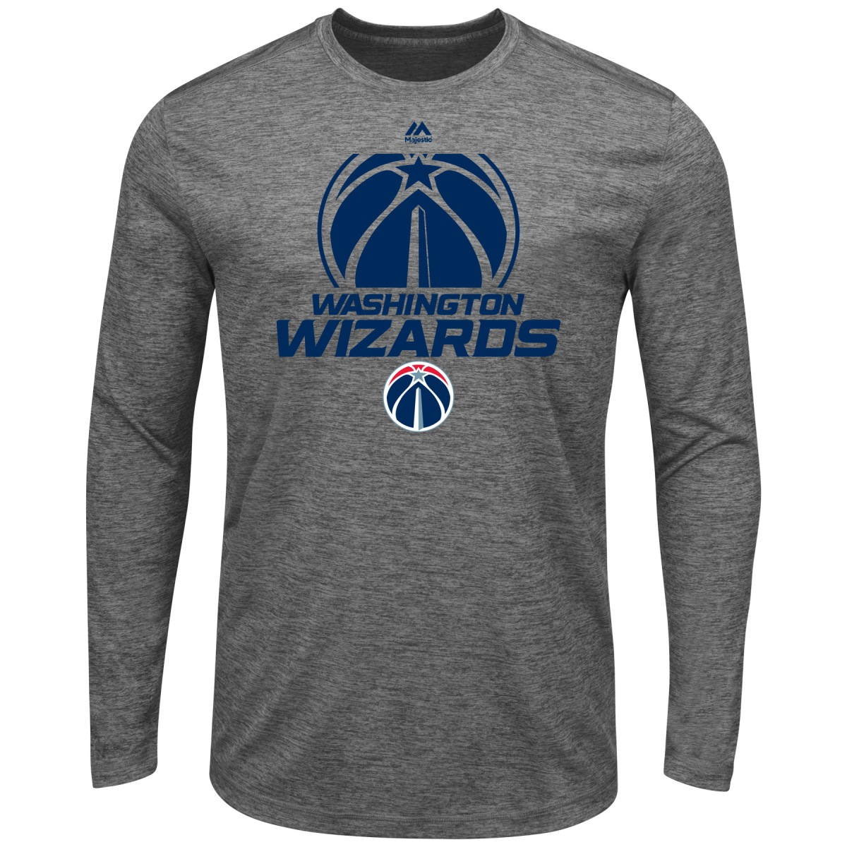 "Washington Wizards Majestic NBA ""Victory"" Men's Long Sleeve Performance T-Shirt"