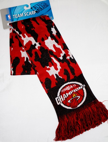 Miami Heat 2013 NBA Champions Camouflage Knit Scarf