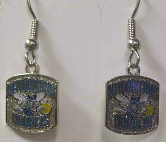 NBA Dangling Earrings - New Orleans Hornets Logo