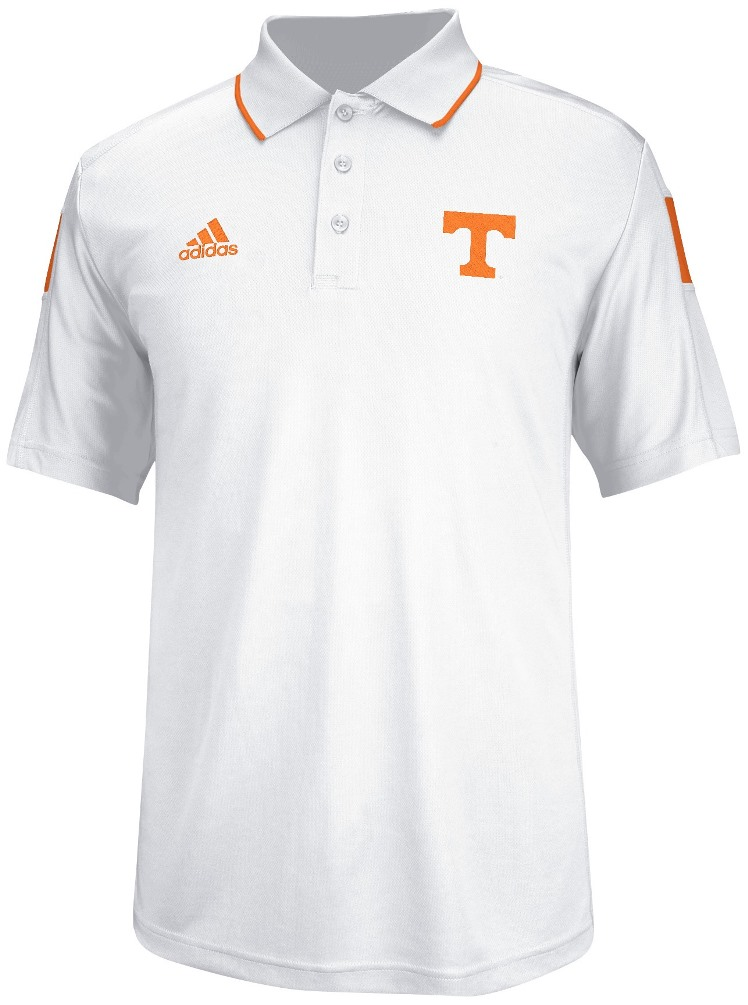 Tennessee Volunteers Adidas 2014 Sideline Climalite Polo Shirt - White