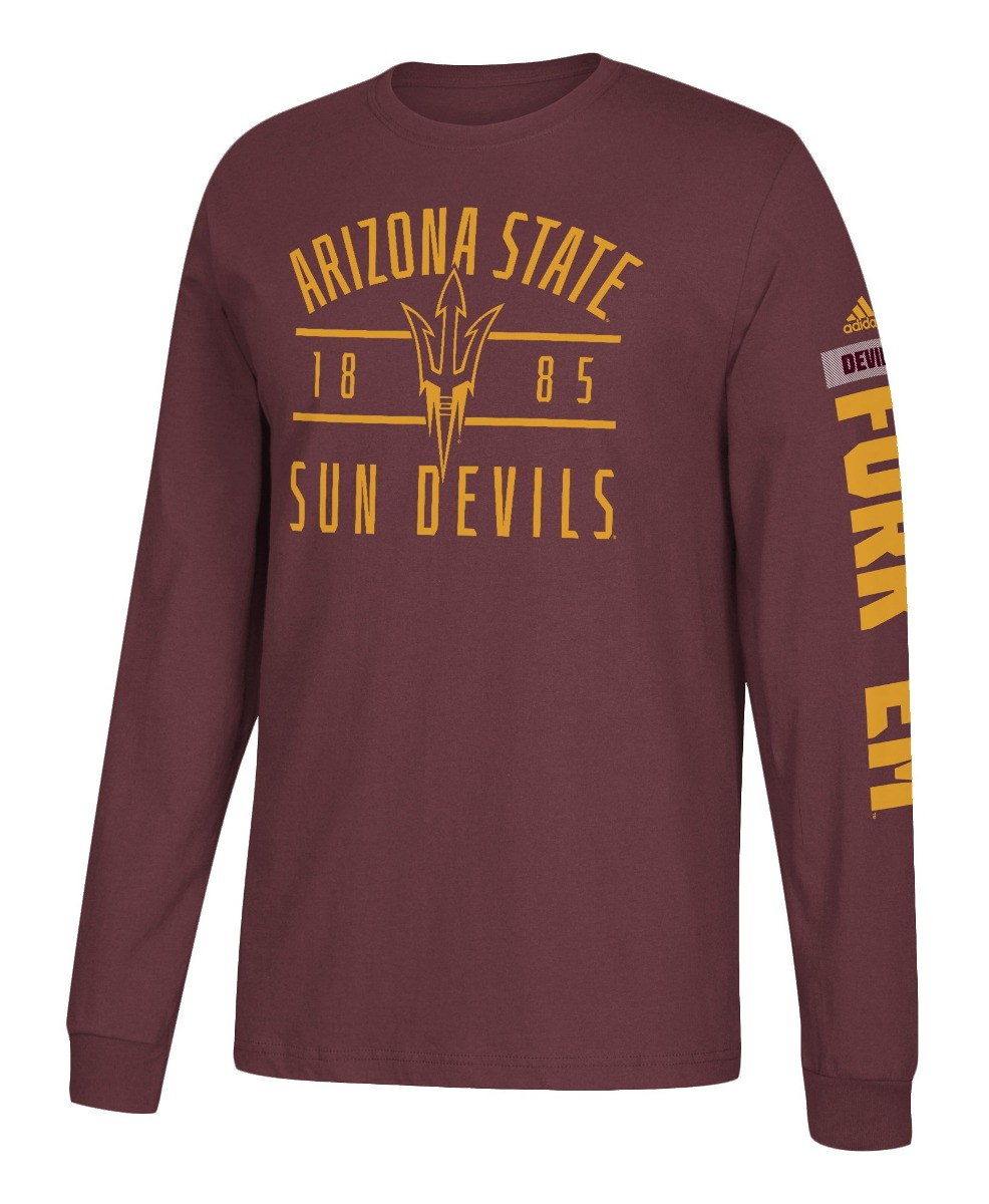 "Arizona State Sun Devils Adidas NCAA ""Schooled"" Men's Long Sleeve T-shirt"
