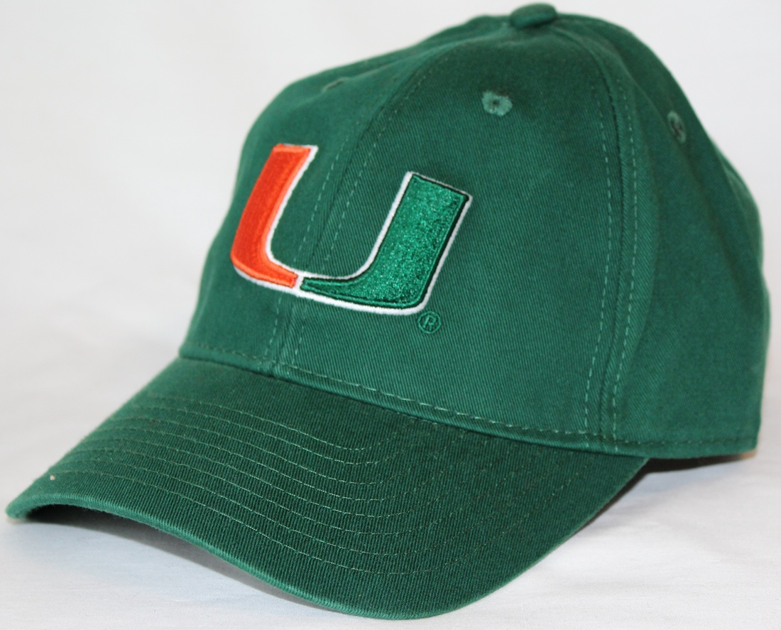 "Miami Hurricanes Adidas NCAA ""Basic Logo"" Adjustable Slouch Hat - Green"