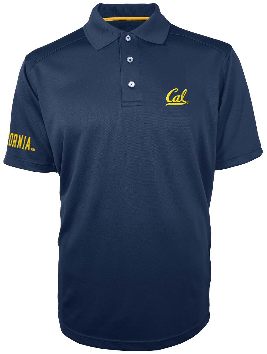 "California Golden Bears Majestic NCAA ""Turnover"" Performance Polo Shirt - Blue"