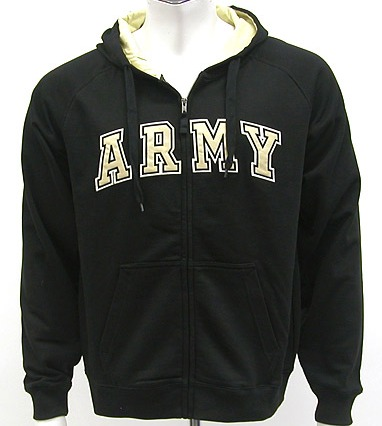 Army Black Knights Automatic Full Zip Hooded Sweatshirt