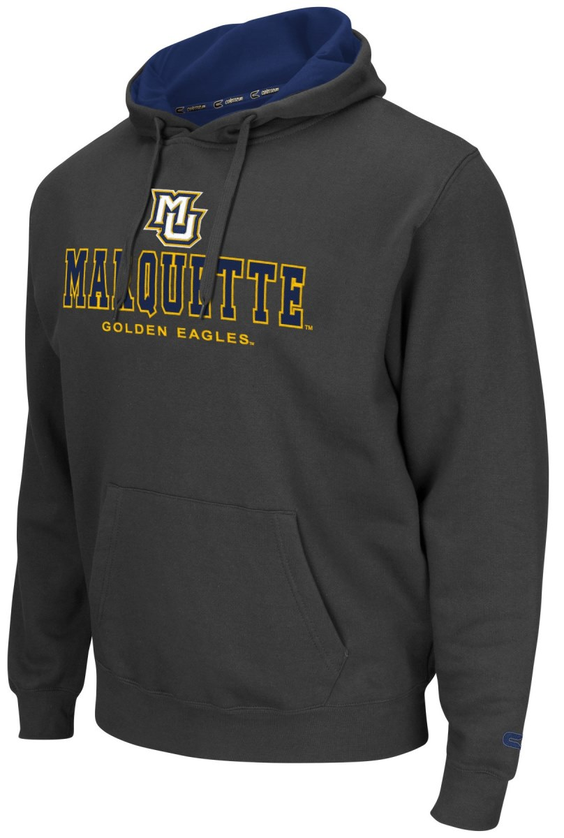 Marquette Golden Eagles NCAA Zone II Pullover Hooded Men's Sweatshirt - Charcoal