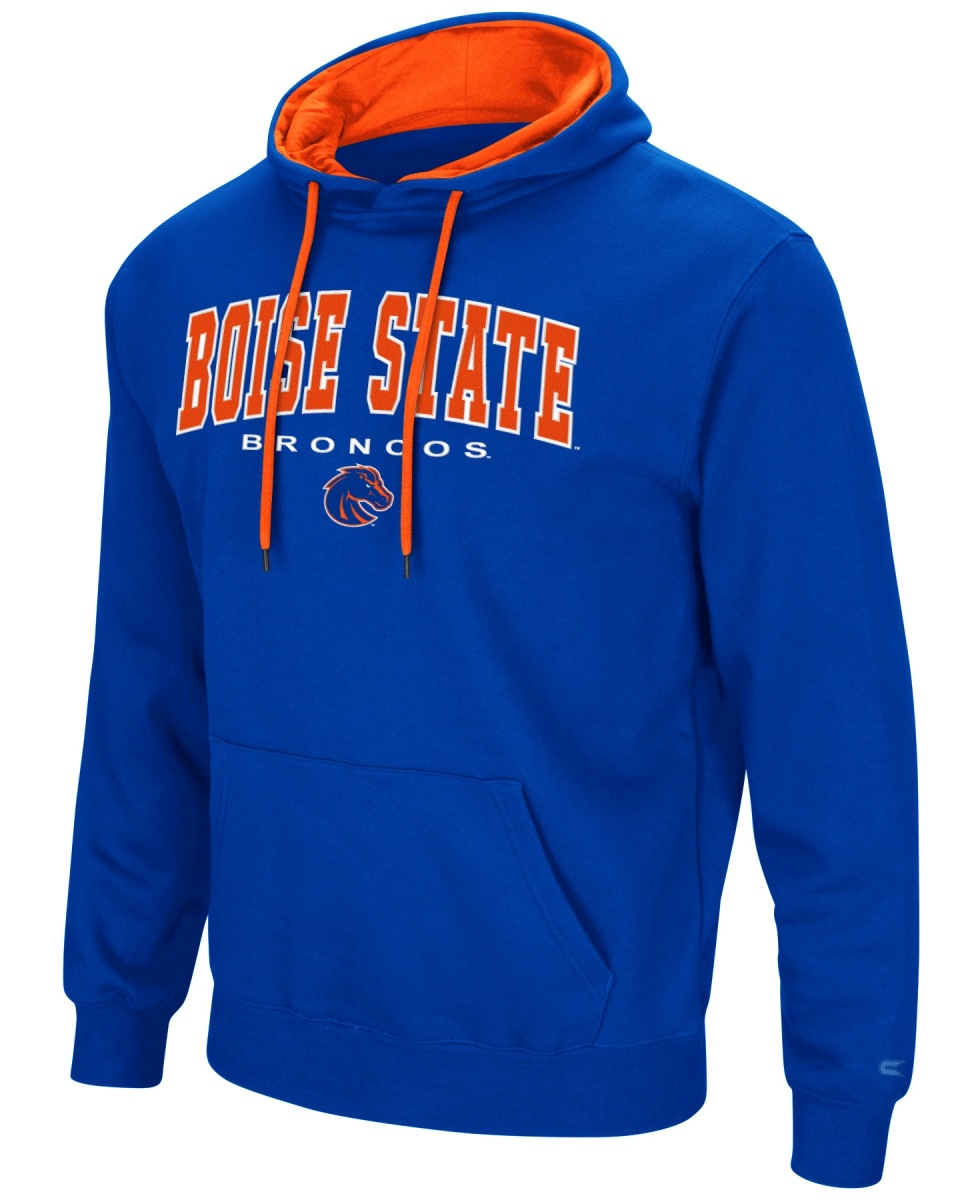 "Boise State Broncos NCAA ""End Zone"" Pullover Hooded Men's Sweatshirt - Blue"