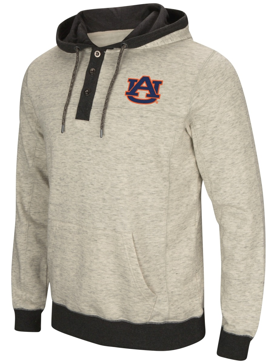 "Auburn Tigers Men's NCAA ""Bolton"" Hooded Henley Sweatshirt"