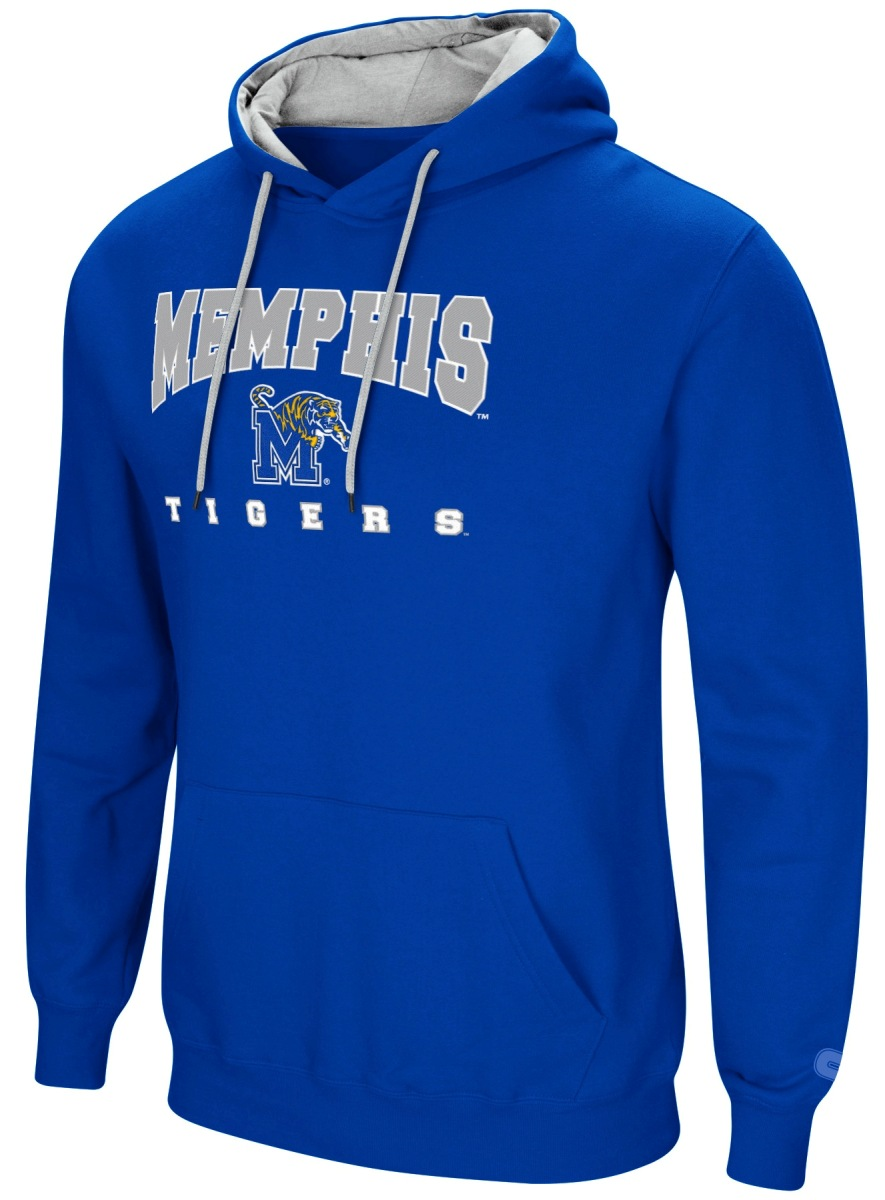 "Memphis Tigers NCAA ""Playbook"" Pullover Hooded Men's Sweatshirt - Blue"