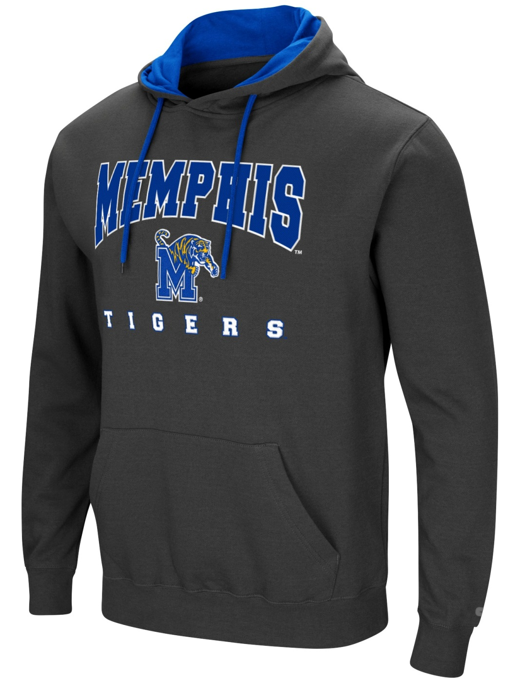 "Memphis Tigers NCAA ""Playbook"" Pullover Hooded Men's Sweatshirt - Charcoal"