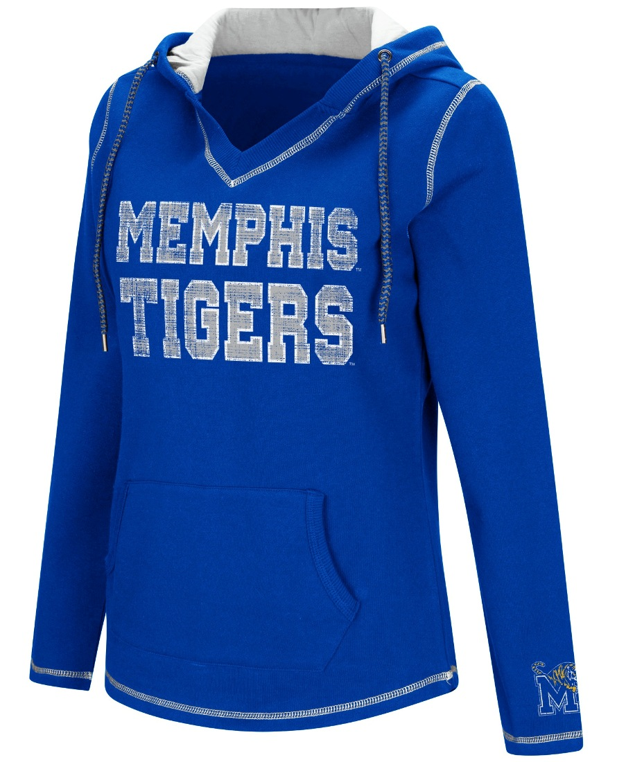 "Memphis Tigers Women's NCAA ""Spike"" V-neck Pullover Hooded Sweatshirt"