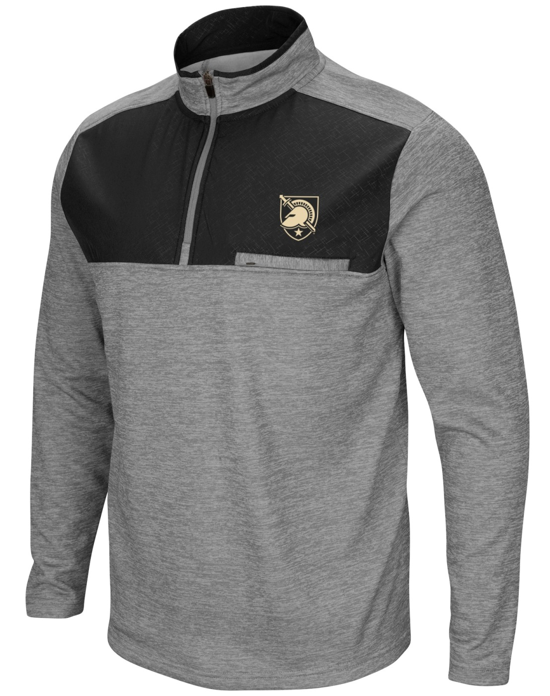 "Army Black Knights NCAA ""Curl Route"" Men's 1/4 Zip Fleece Jacket"