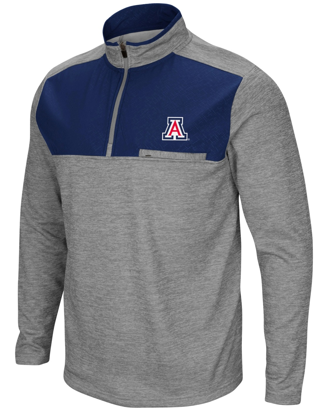 "Arizona Wildcats NCAA ""Curl Route"" Men's 1/4 Zip Fleece Jacket"