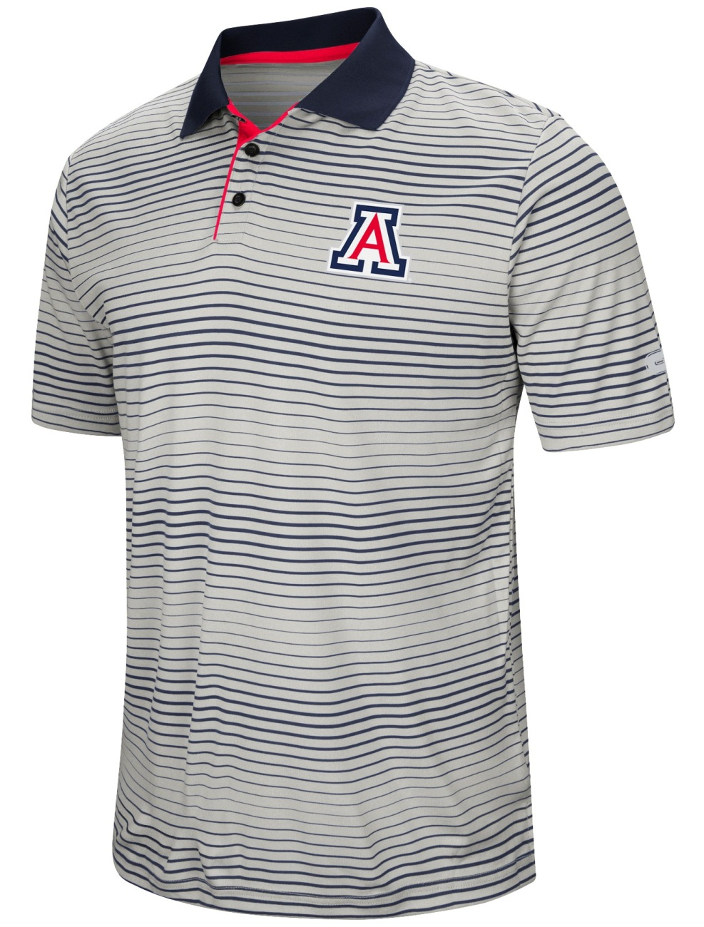 "Arizona Wildcats NCAA ""Number One"" Men's Performance Striped Polo Shirt"