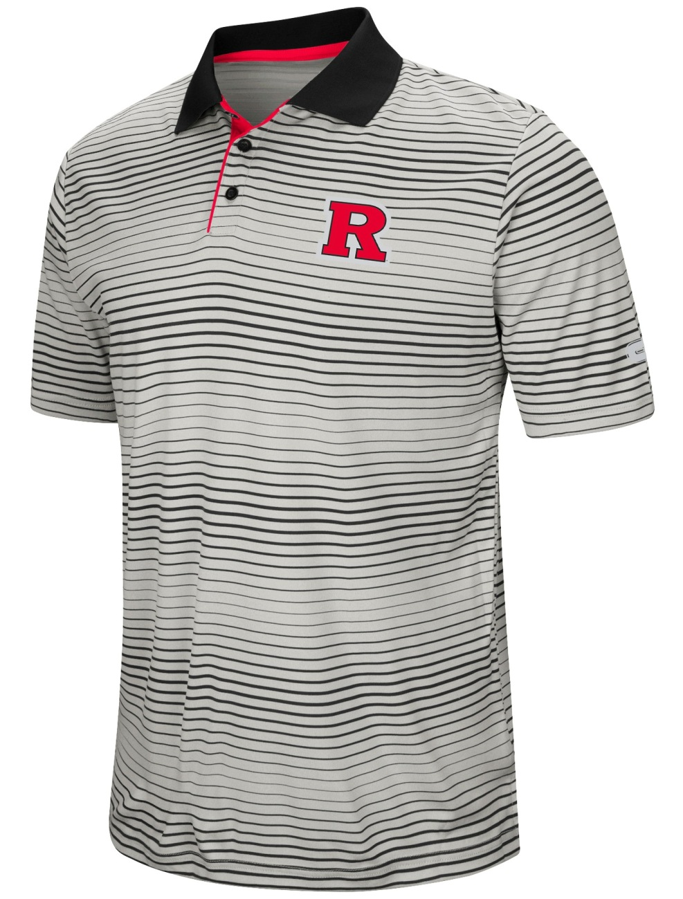 "Rutgers Scarlet Knights NCAA ""Number One"" Men's Performance Striped Polo Shirt"