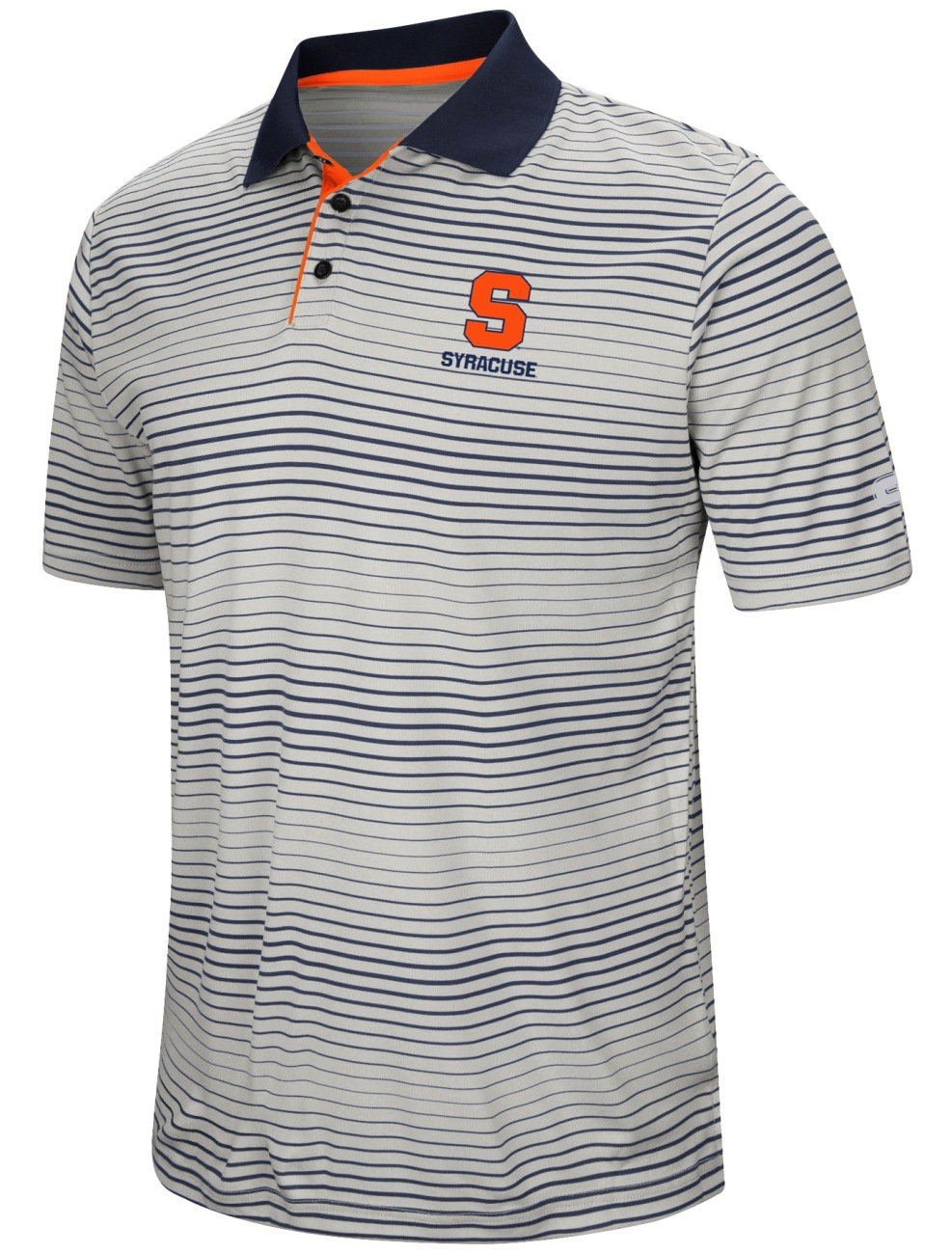 "Syracuse Orange NCAA ""Number One"" Men's Performance Striped Polo Shirt"