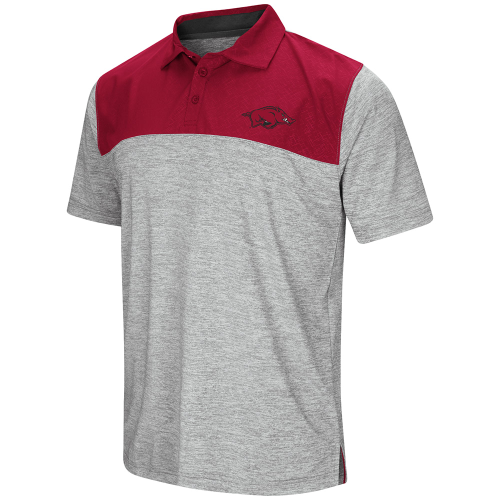 "Arkansas Razorbacks NCAA ""Clear Sailing"" Men's Performance Woven Polo Shirt"