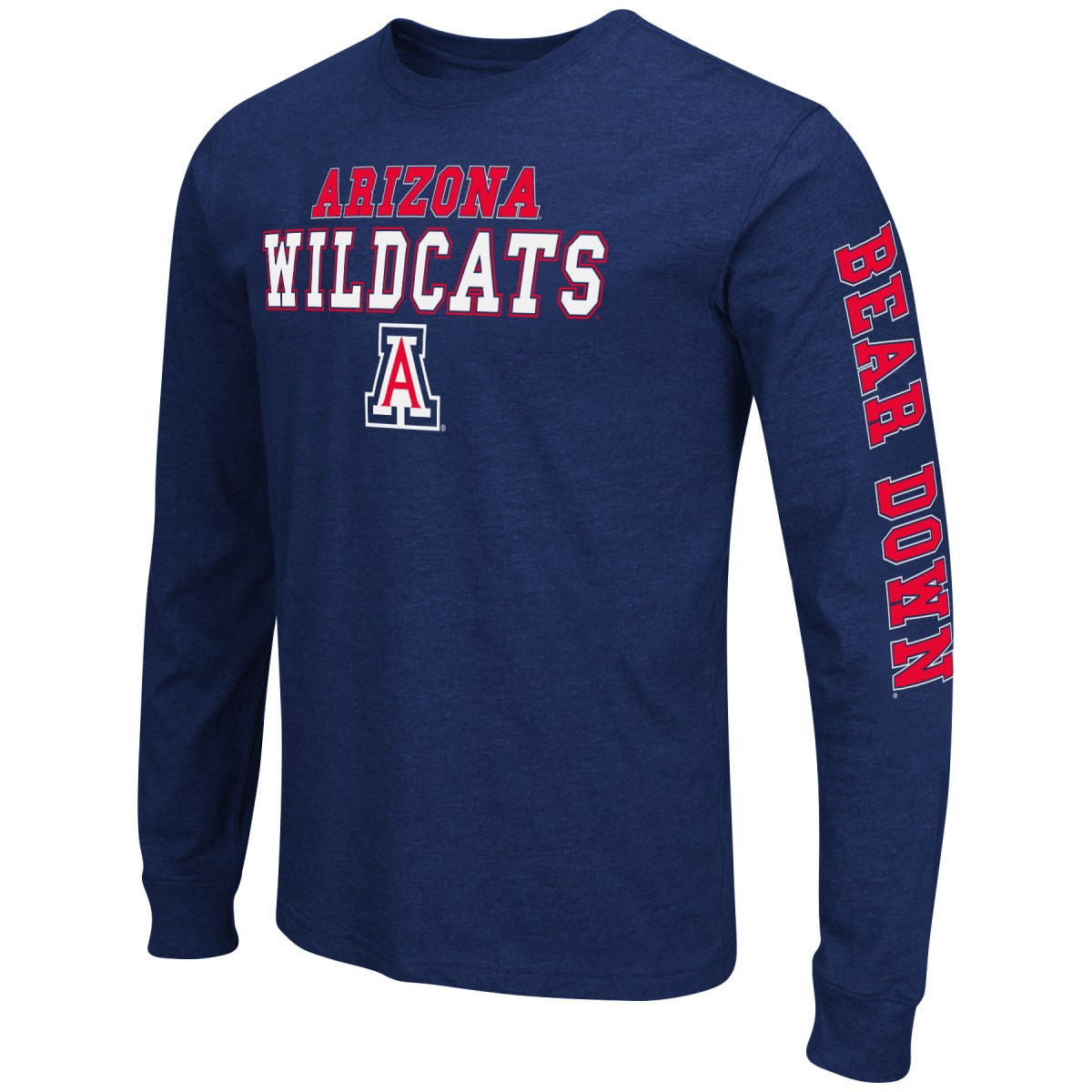 "Arizona Wildcats NCAA ""Game Changer"" Long Sleeve Dual Blend Men's T-Shirt"