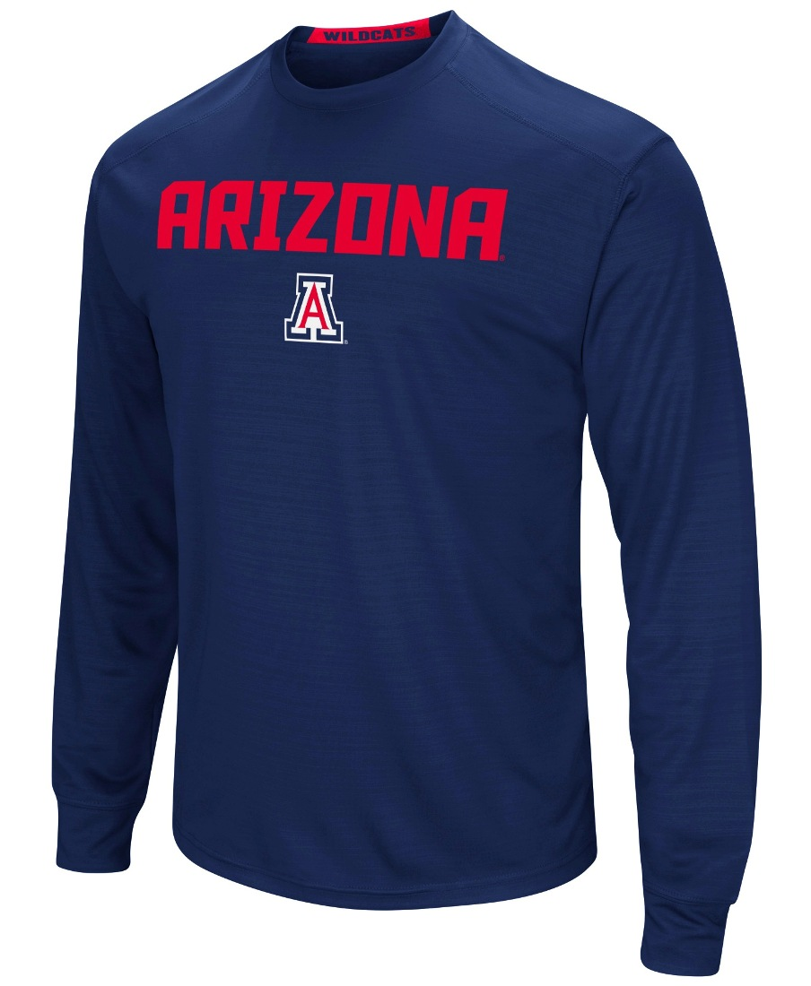 "Arizona Wildcats NCAA ""Power Set"" Men's Long Sleeve Performance T-Shirt"
