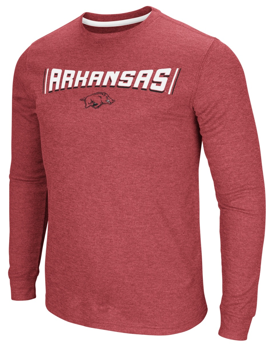 "Arkansas Razorbacks NCAA ""Cake Time"" Men's Long Sleeve T-Shirt"