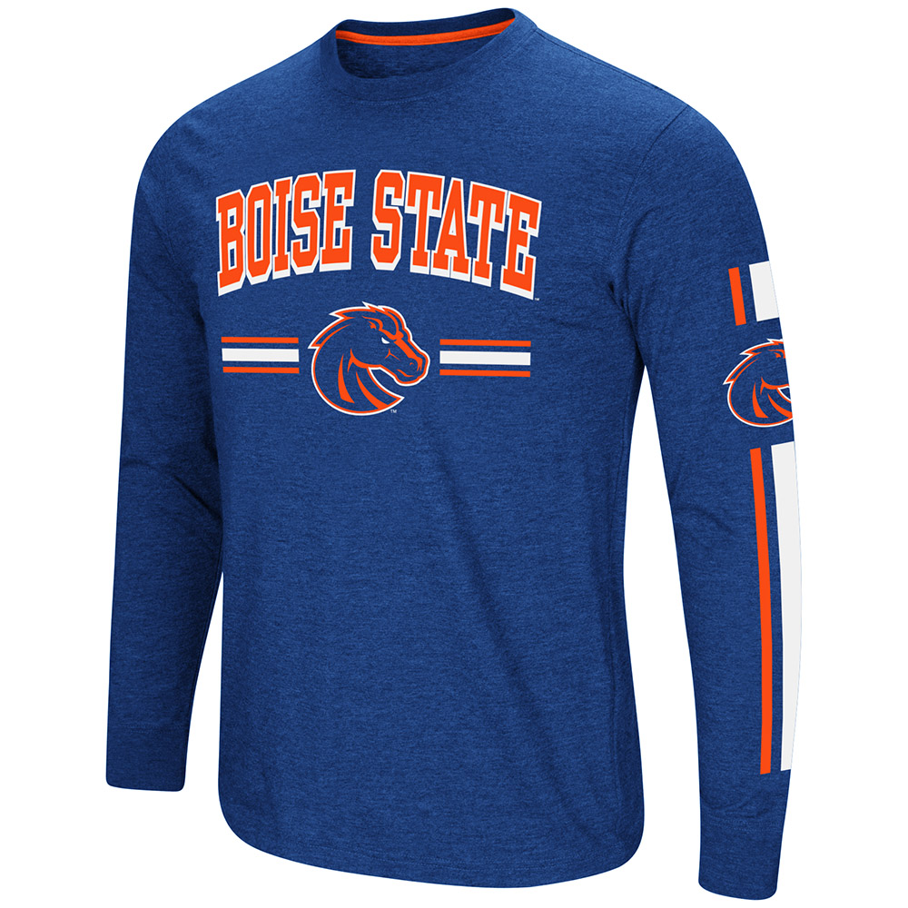 "Boise State Broncos NCAA ""Touchdown"" Men's Dual Blend Long Sleeve T-Shirt"