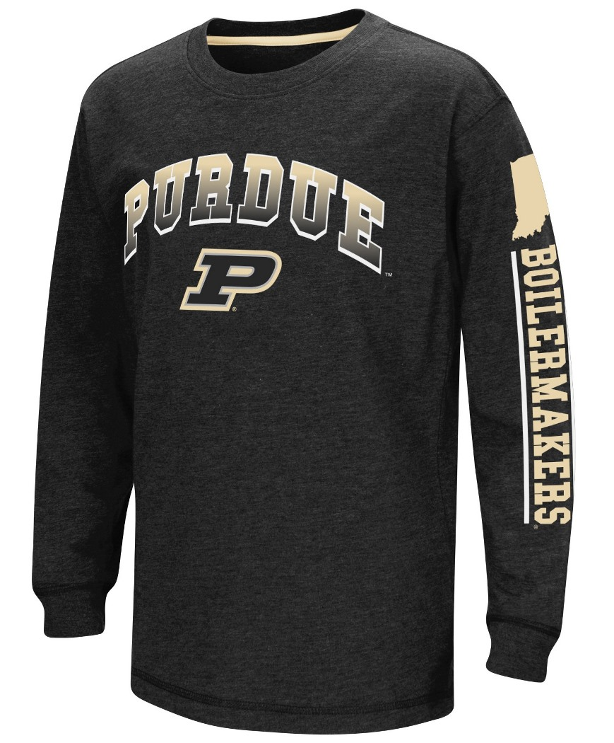"Purdue Boilermakers NCAA ""Grandstand"" Long Sleeve Dual Blend Youth T-Shirt"
