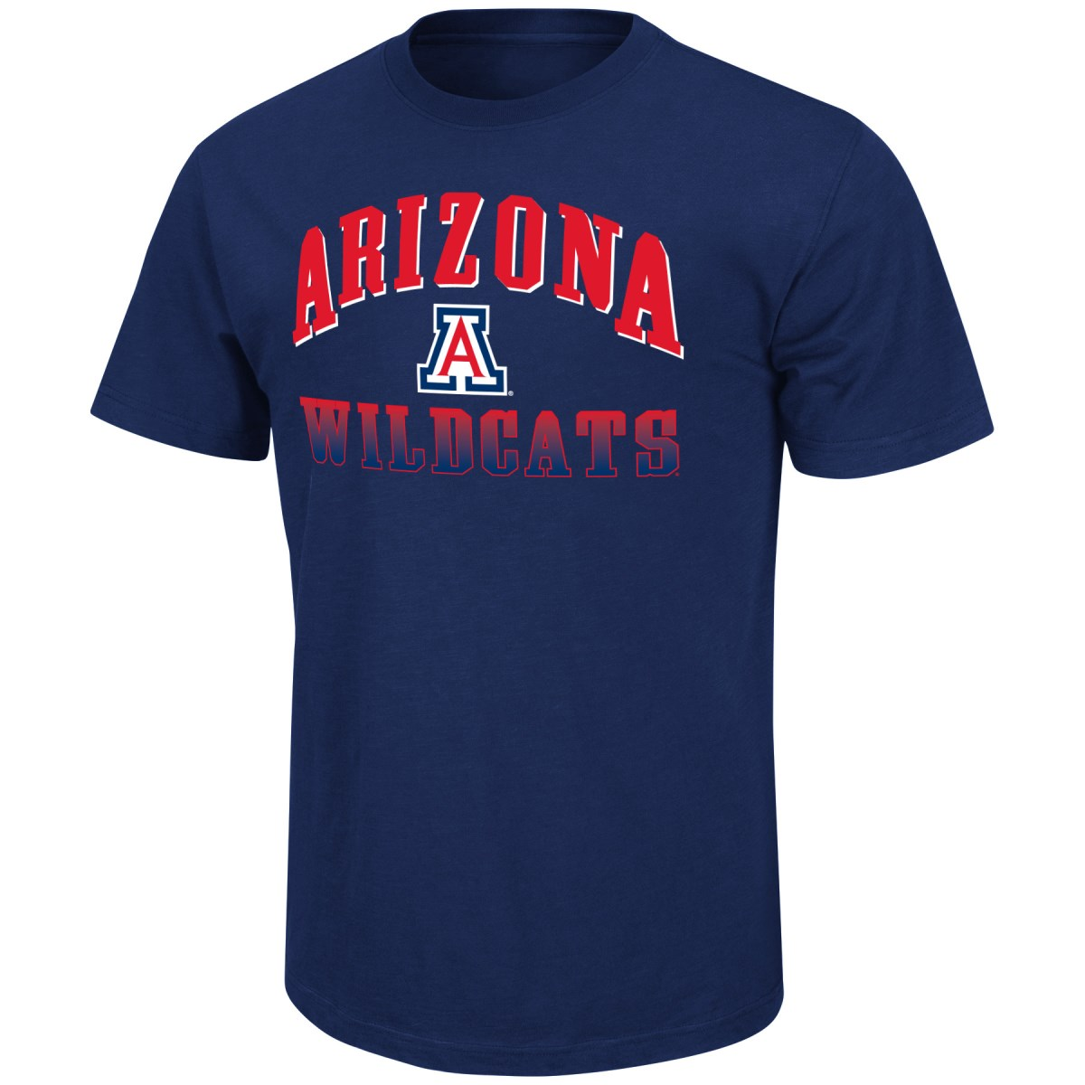 "Arizona Wildcats NCAA ""Contour"" Men's Short Sleeve Distressed T-Shirt"