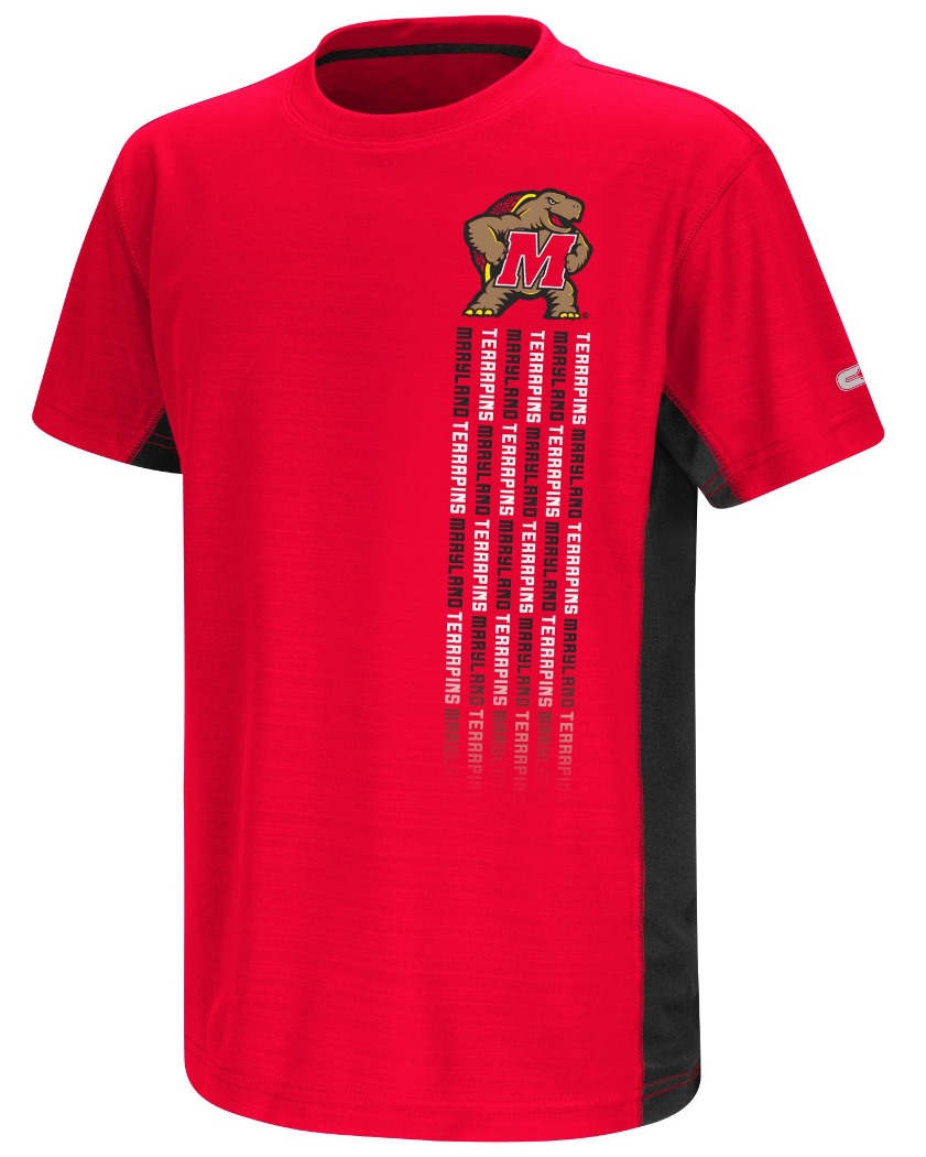 Maryland Terrapins NCAA Power Set Youth Short Sleeve Performance T-Shirt