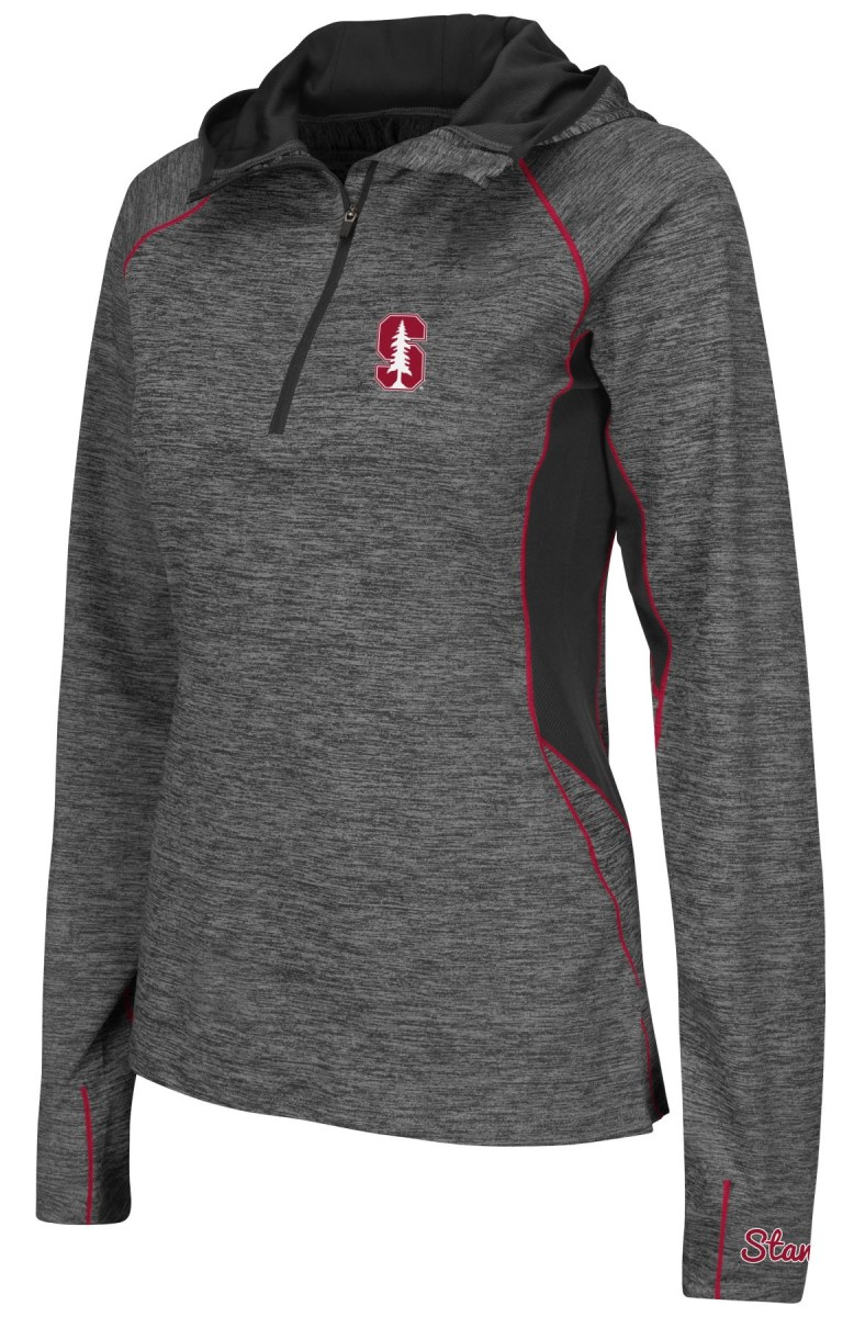"Stanford Cardinal Women's NCAA ""Downhill"" 1/4 Zip Hooded L/S Wind Shirt"