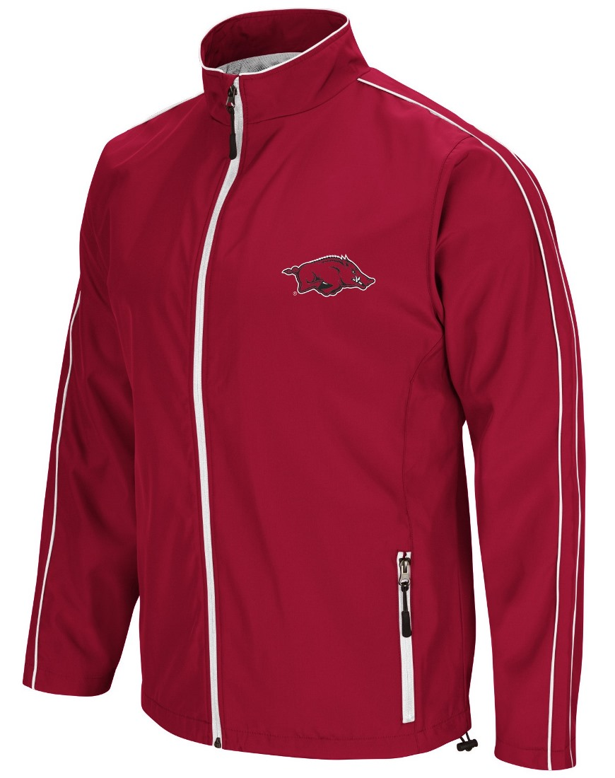 "Arkansas Razorbacks NCAA ""Barrier"" Men's Full Zip Wind Jacket"