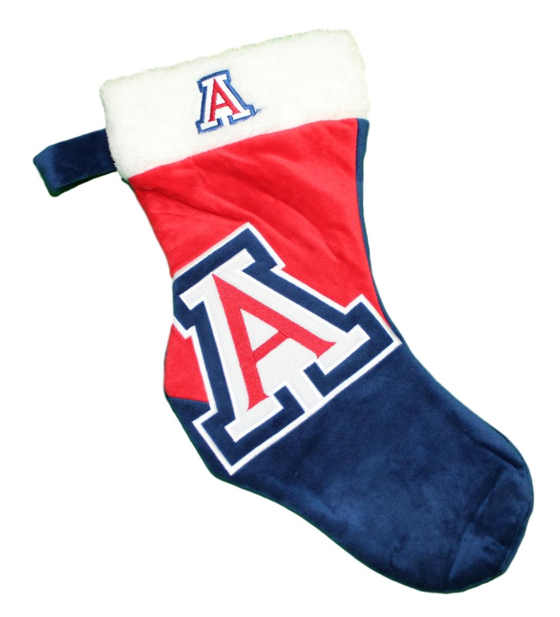 Arizona Wildcats 2018 NCAA Basic Logo Plush Christmas Stocking