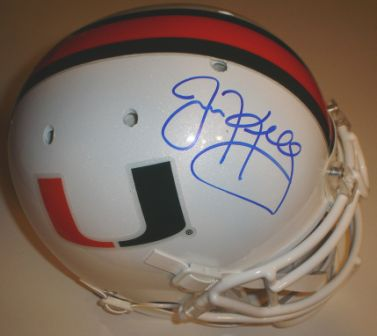 Jim Kelly Signed Schutt Authentic Miami Helmet