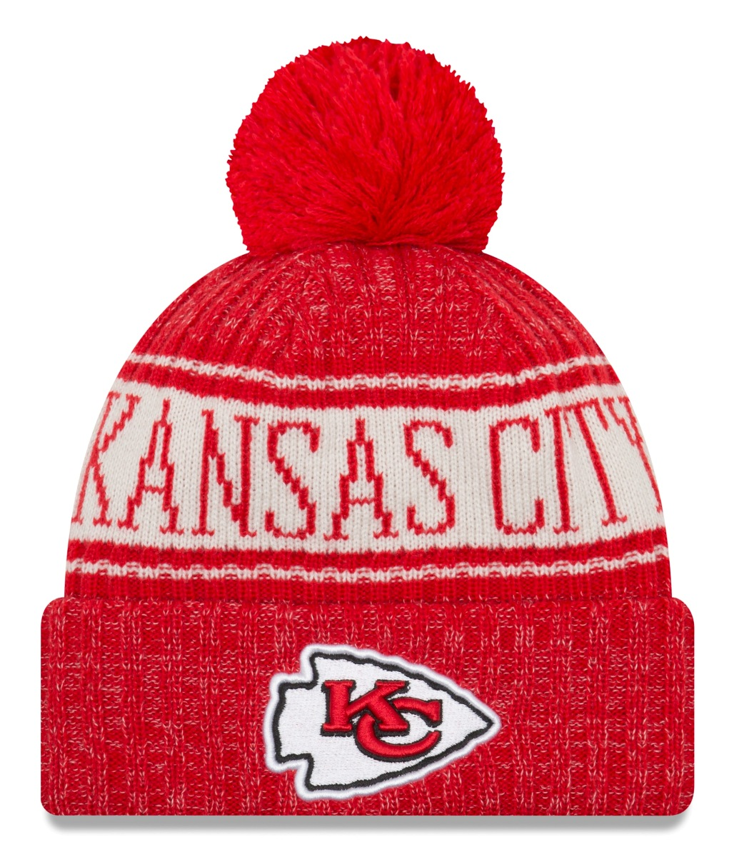 Kansas City Chiefs New Era 2018 NFL Sideline On Field Sport Knit Hat - Red