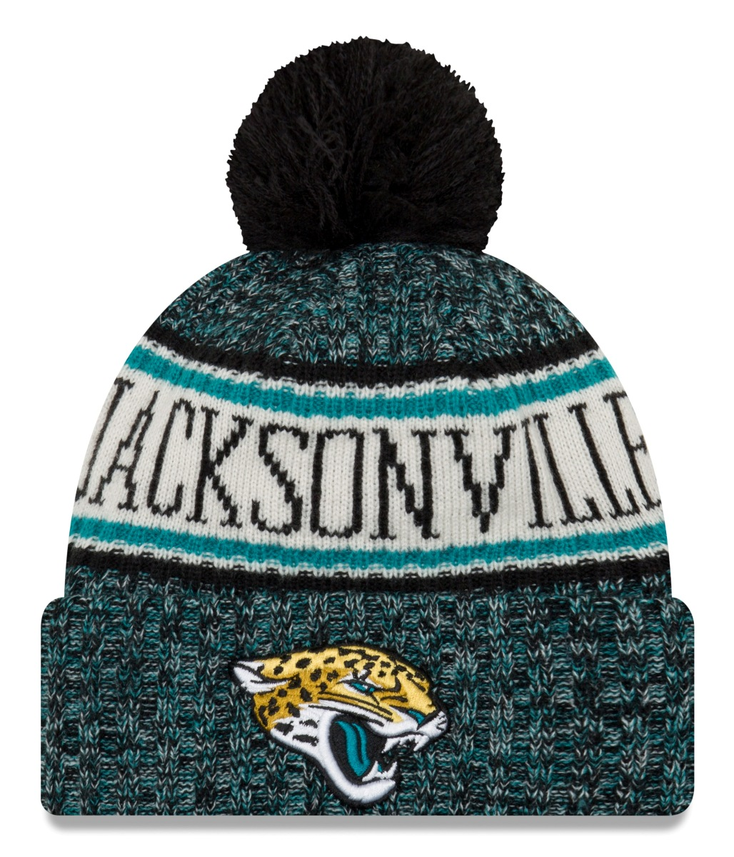 Jacksonville Jaguars New Era 2018 NFL Sideline On Field Sport Knit Hat - Black