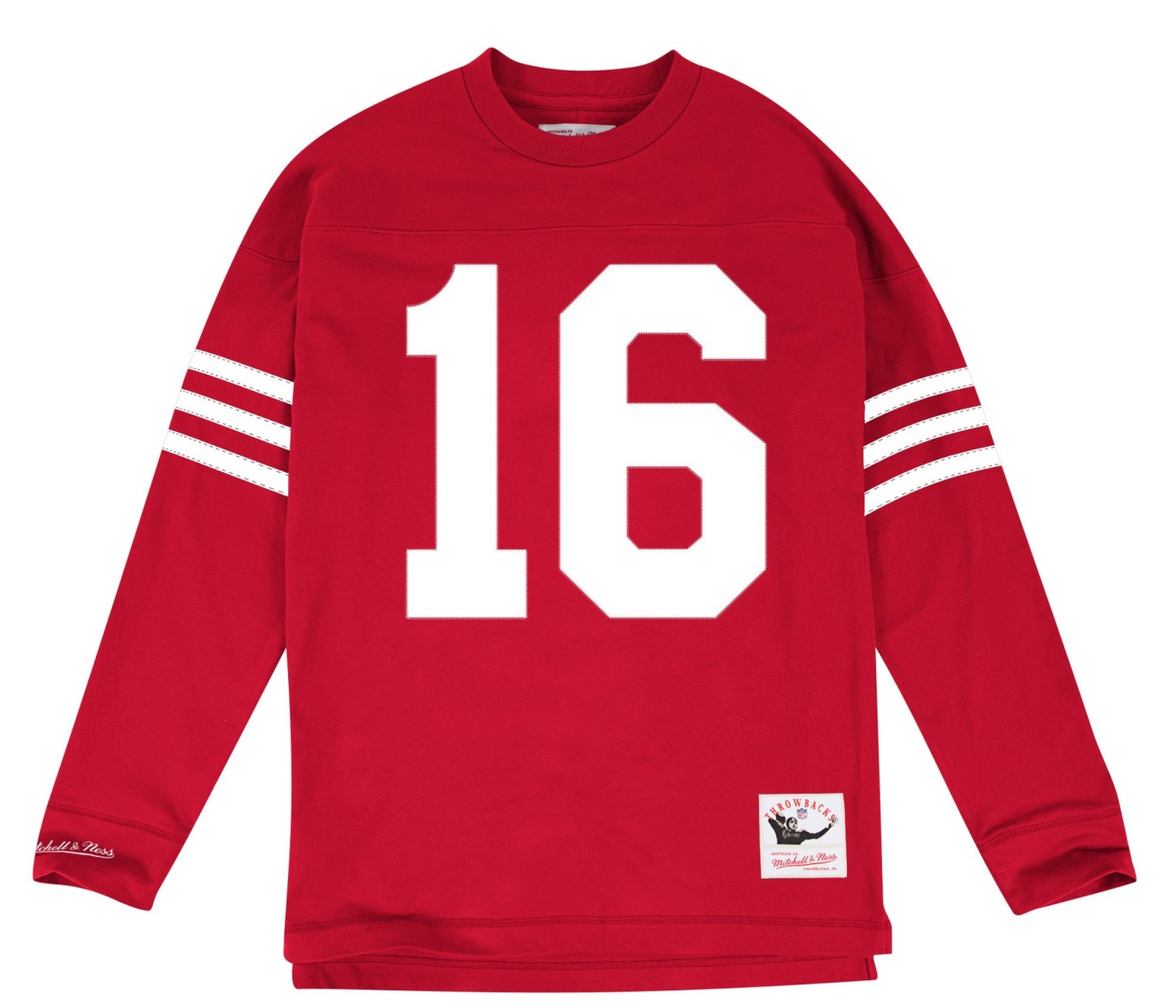 "Joe Montana San Francisco 49ers Mitchell & Ness NFL Men's ""Go Long"" L/S Shirt"