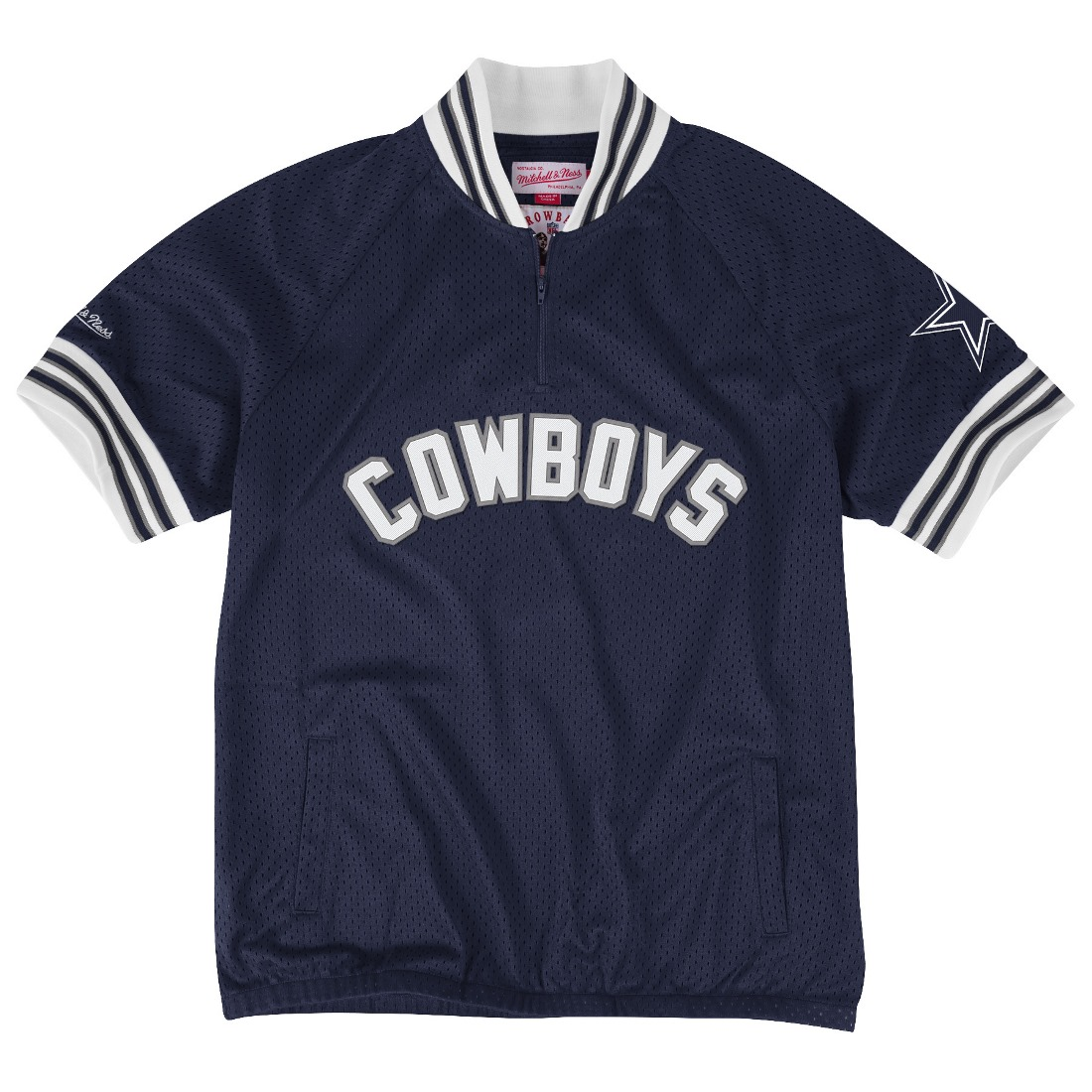"Dallas Cowboys Mitchell & Ness NFL ""Championship"" Mesh Pullover Jacket"
