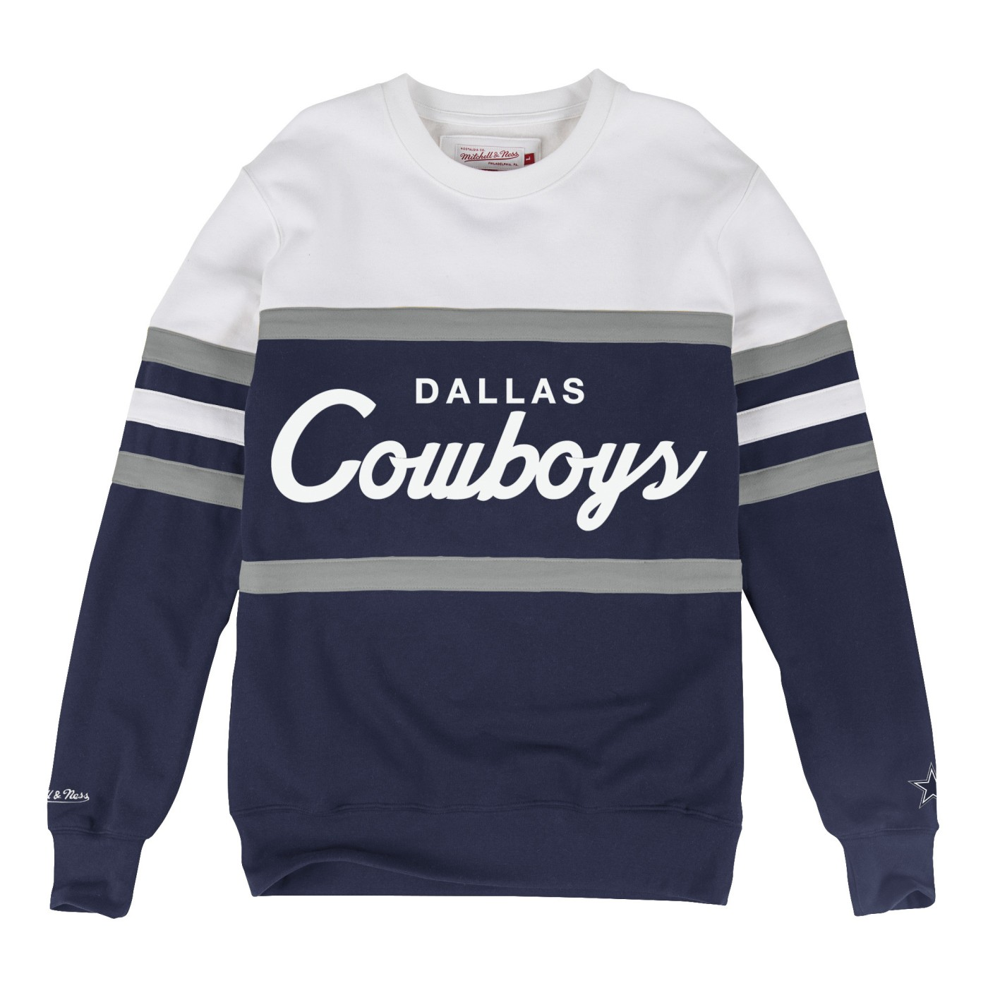 "Dallas Cowboys Mitchell & Ness NFL ""Head Coach"" Men's Premium Crew Sweatshirt"