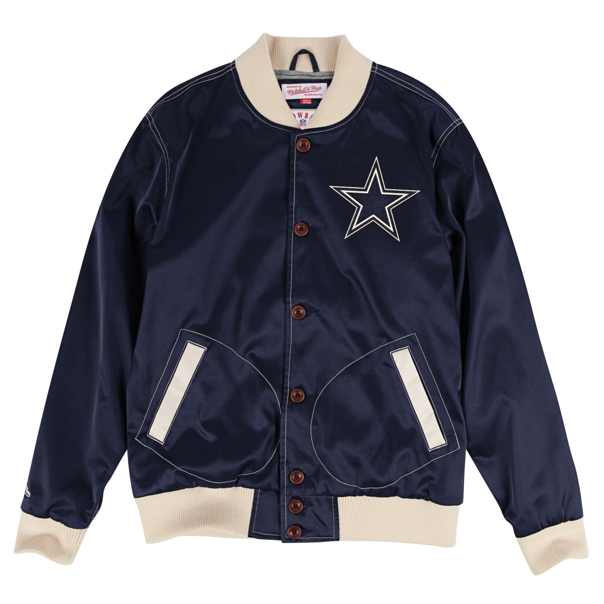 "Dallas Cowboys Mitchell & Ness NFL ""Hometown Champs"" Premium Satin Jacket"