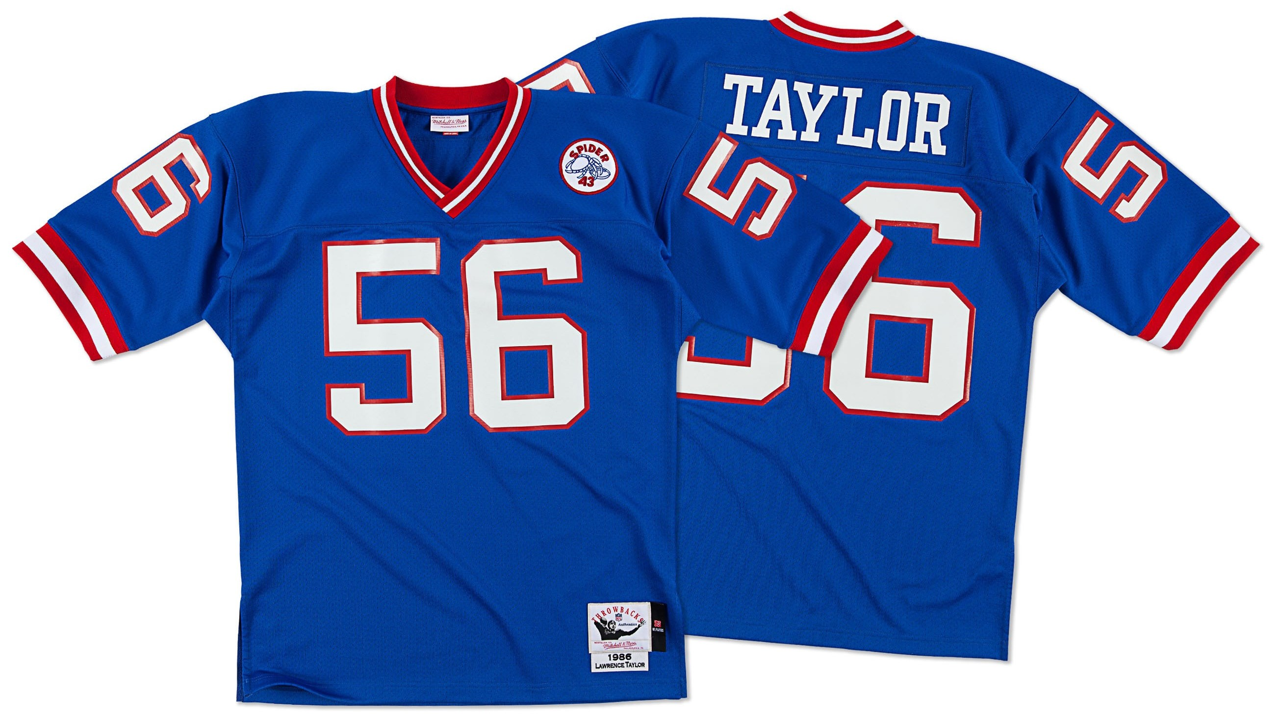 Lawrence Taylor New York Giants Mitchell & Ness Authentic 1986 Blue NFL Jersey