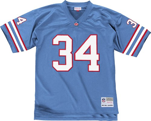Earl Campbell Houston Oilers Mitchell & Ness Throwback Premier Jersey - Blue
