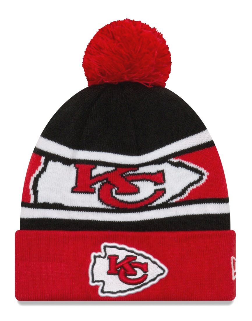 "Kansas City Chiefs New Era NFL ""Callout Pom"" Cuffed Knit Hat with Pom"
