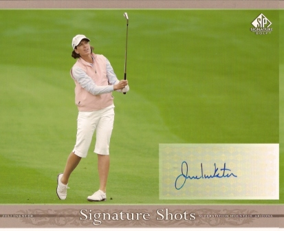 Juli Inkster Signed 8x10 Upper Deck