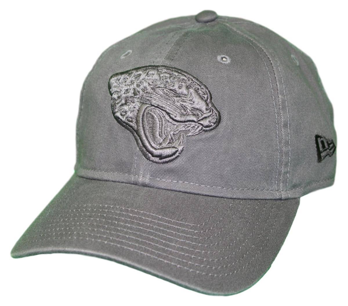 "Jacksonville Jaguars New Era NFL 9Twenty ""Classic Tonal"" Adjustable Graphite Hat"