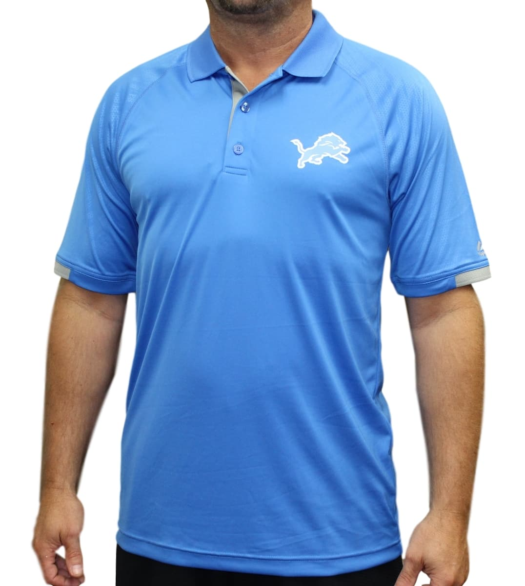 "Detroit Lions Majestic NFL ""Club Level"" Men's Short Sleeve Polo Shirt"