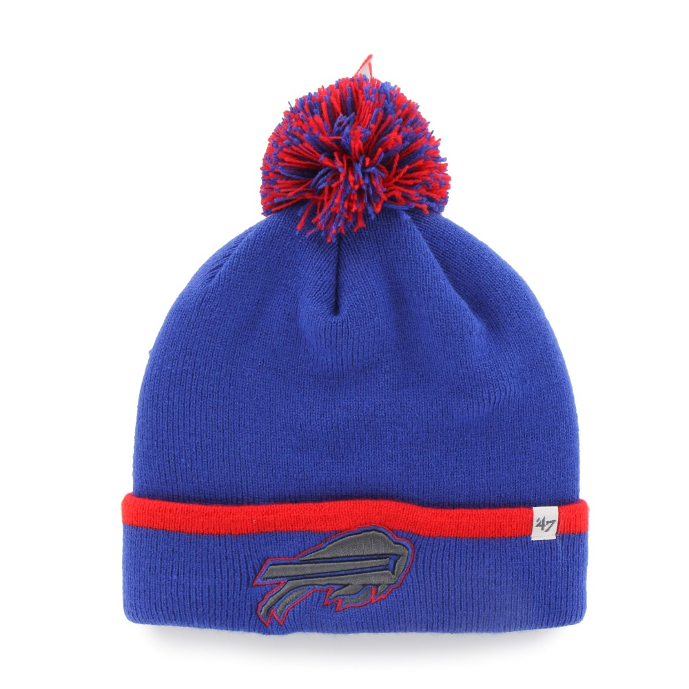 "Buffalo Bills 47 Brand NFL ""Baraka"" Cuffed Knit Hat with Pom"