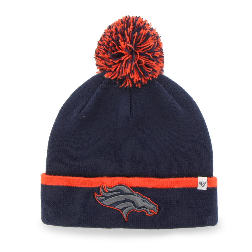 "Denver Broncos 47 Brand NFL ""Baraka"" Cuffed Knit Hat with Pom"