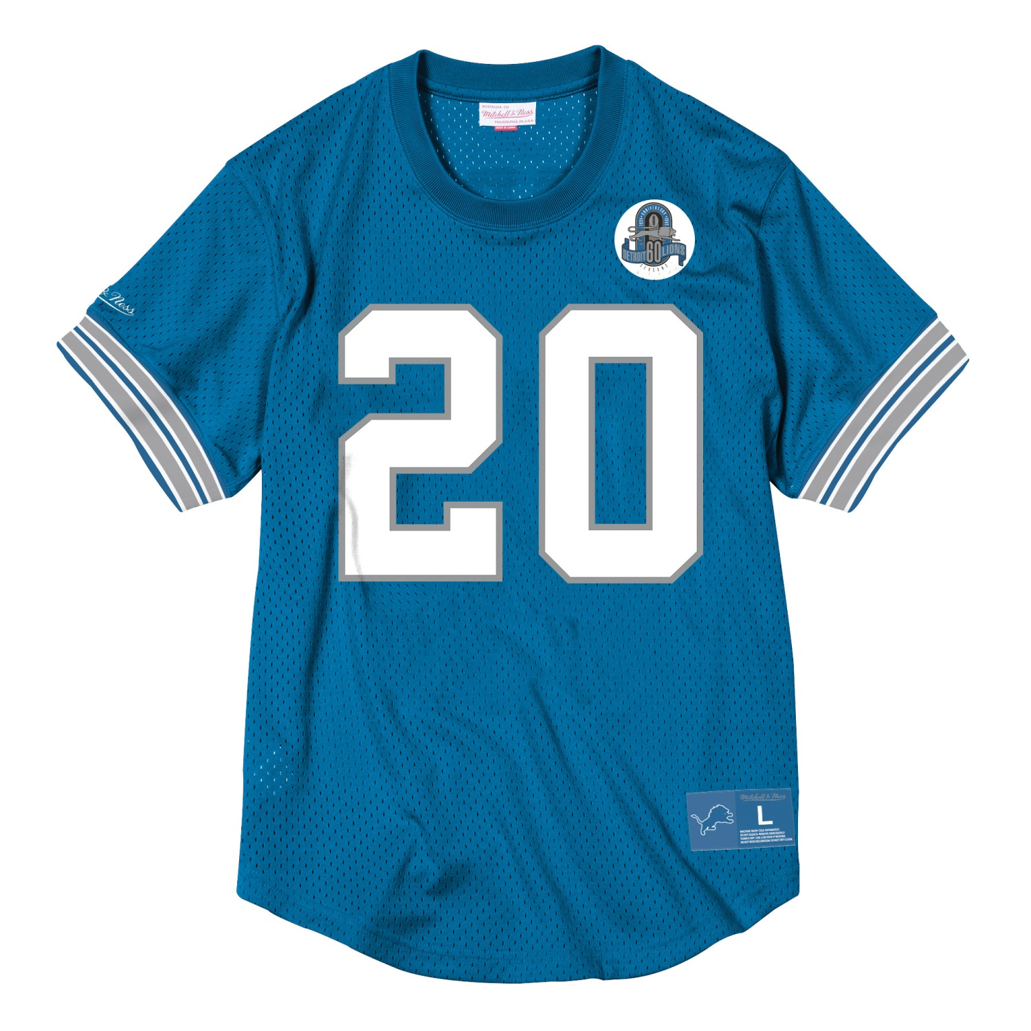"Barry Sanders Detroit Lions Mitchell & Ness NFL Men's ""Mesh"" Player Shirt"